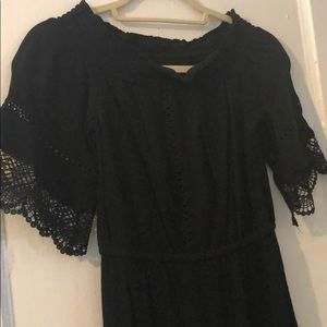 Off the shoulder embroidery dress